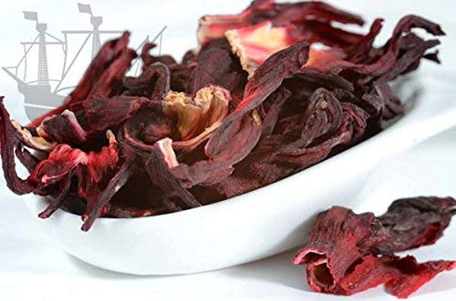 Hibiskus ( Malve ) Früchtetee, Durstlöscher, warm & kalt, frei von künstlichen Zusatzstoffen, 100g - Bremer Gewürzhandel