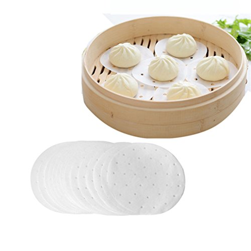 Vipe Non Stick Rounds Perforated Parchment Paper Liners Perfect for Air Fryer Steaming Basket Air Fryers & Great for Cooking All Foods 50pcs (Small)