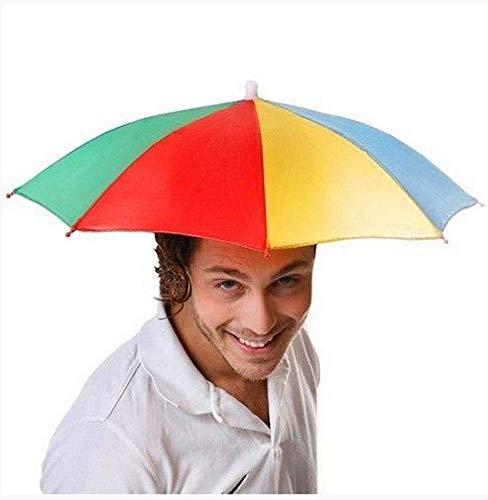 ZGMMM Outdoor Faltbare Sonnenschirm Hut Golf Angeln Camping Headwear Cap Kopf Hut zufällige Farbezufällige Farbe