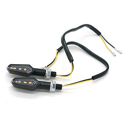 Señal de Giro de Motocicleta LED de la señal de Giro LED de Motocicleta para Las señales de Giro del LED de la Motocicleta Lámpara indicadora LED LED indicador LED 12V 1 par (Color : A)