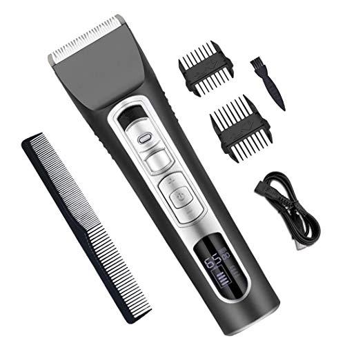 SXZZ Tondeuse À Cheveux Électriques, Tondeuse Professionnelle, Machine De Découpage USB Rechargeable Cheveux avec Écran LCD, pour Les Hommes Et Un Usage Familial