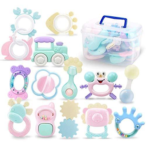 Juguete para sentarse sensorial, juguetes de agua dulce para bebés de 0 a 6 meses, juego de juguetes para mordedores para bebés, juguetes para bebés, juguetes para bebés, juguetes para sonajeros inter