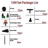 HtapsG Riego por Goteo Herramientas Sistema De Riego Automático Kit De Boquillas para Microaspersores DIY Spray Cooling Potted Lawn Yard Set 5-30M-Conjunto De 15M