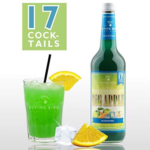 Big Apple - Cocktail Sirup PreMix für 17 Mixgetränke alkoholfrei | Flasche 0,7l mit allen Zutaten | Einfach mit Orangenssaft mischen, fertig