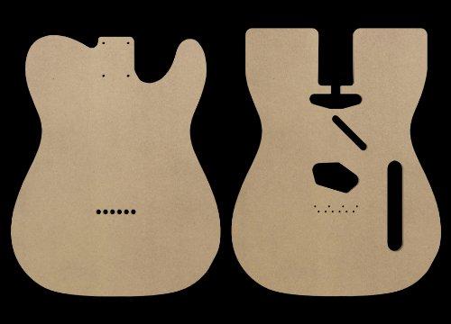 Telecaster MDF Guitar Body Template 0.25