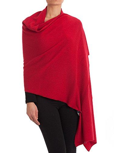 DALLE PIANE CASHMERE - Stola aus Kaschmir-Gemisch - für Damen, Farbe: Rot, Einheitsgröße