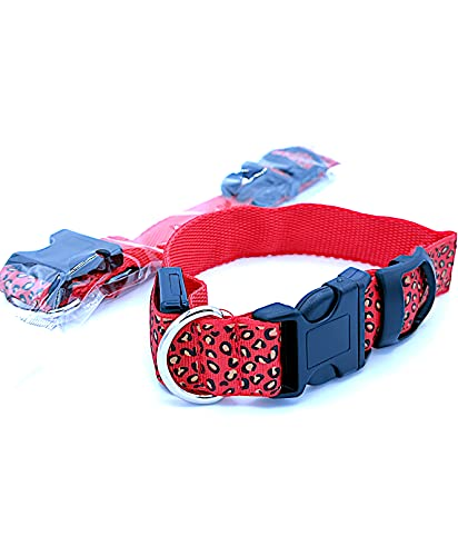 Collar de Perro Led Collar para Perro Reflectante Suave (L 34cm-57cm(Circunferencia), Naranja)