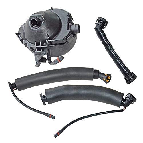 11617531423 Crankcase Vent Valve Oil Separator with Breather Hose Kit for BM-W 1 3 5 6 7 Series Z4 E60 E61 E63 E64 E90 E91 Engine N52 11157567801 11157527570