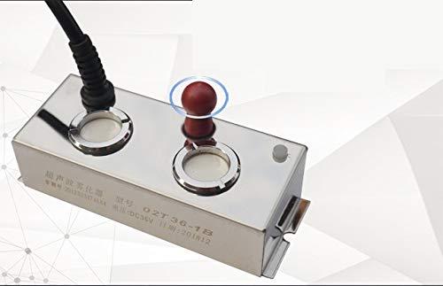 HONIC DC36V Acuario atomizador Fuente de Agua del jardín de rocalla humidificador de Vapor del Estanque de Peces Bonsai Fabricante de la Niebla nebulizador Sin Fuente de alimentación: 2 Cabeza