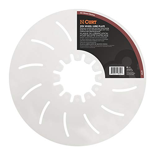 5th Wheel Hitch Lube Plate, 12-Inch Diameter - CURT 16722