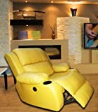 Masco Best Buy Yaris Electric Recliner Chair (Yellow)