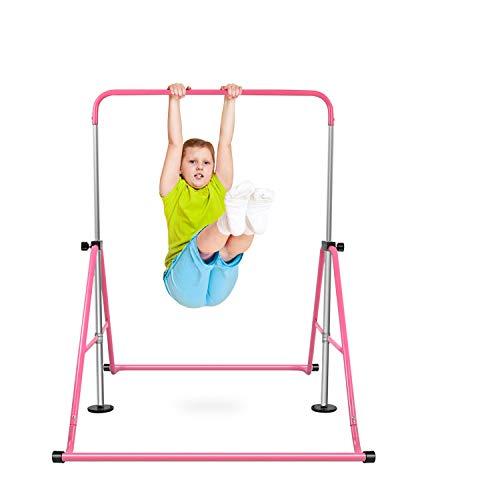 AAIWA Erweiterbare Gymnastikstangen, höhenverstellbare Gymnastik-Horizontalstangen, Junnior Trarnining Children Klappstangen für Kinder, Kinder, Mädchen, Jungen