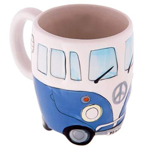 HOPI 400ml Hand Schilderen Dubbele Bus Mokken Retro Keramische Beker Koffie Melk Thee Mok Drinkware