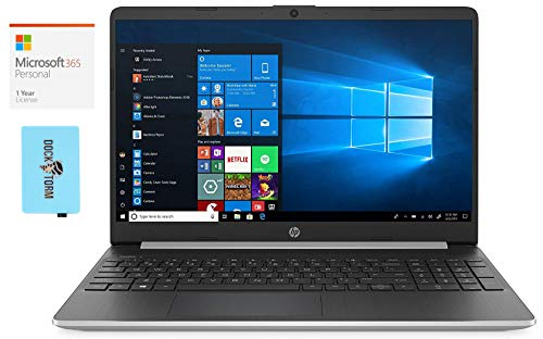 HP 15-dy1971cl Home and Business Laptop (Intel i7-1065G7 4-Core, 16GB RAM, 512GB PCIe SSD, Intel Iris Graphics, 15.6' Full HD (1920x1080), WiFi, Win 10 Home) with Microsoft 365 Personal, Hub