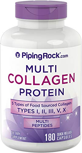 180 x HYDROLYZED Collagen Capsules - Type I, II, III, V, X Food Sourced Collagen, Multi Peptides, Hydrolysed Collagen, (2000mg per 4 Capsule Serving)