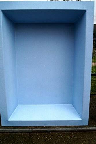Wacredo GFK Rechteckbecken 300 x 180 x 52cm Blau-Granit 1900 Liter rechteckig architektonisches Wasserbecken Gartenteich Teichbecken