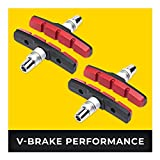 V-Brake Zapatas Freno 2 Par 70mm Symmetric I para Shimano, Tektro, Avid, Sram, XLC etc I Alto Rendimiento I Durable & Ajuste V Pastillas de Freno Bicicleta
