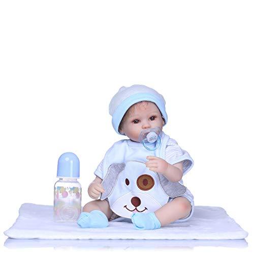 Vinilo de Silicona Hecho a Mano de 16'Adorable Realista niño pequeño Bonecas niña Chico Bebe muñeca Reborn Menina De Silicona