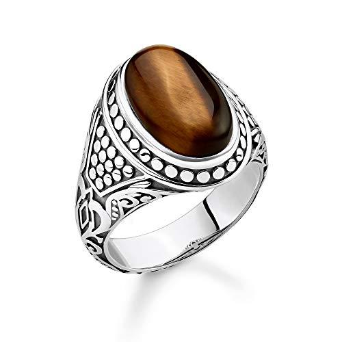 Thomas Sabo Unisex-Ring braun 925er Sterlingsilber geschwärzt TR2241-826-2-64