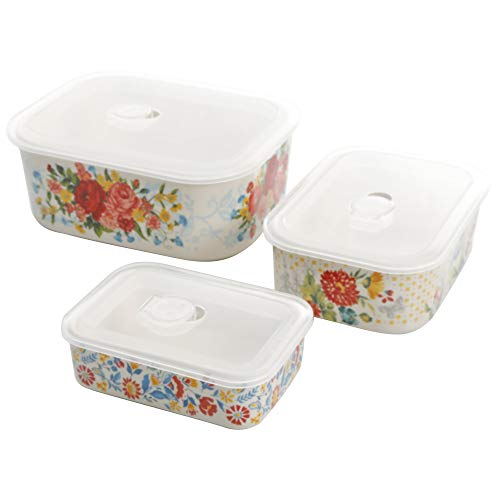The Pioneer Woman Sweet Rose Nesting Baker Set with Lids