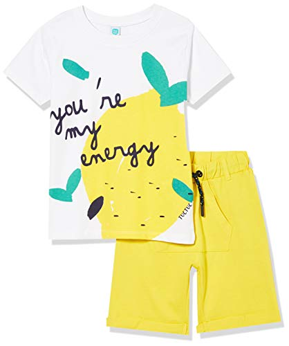 Tuc Tuc Conjunto Camiseta LIMÓN Y Bermuda Punto NIÑO Amarillo Healthy Life