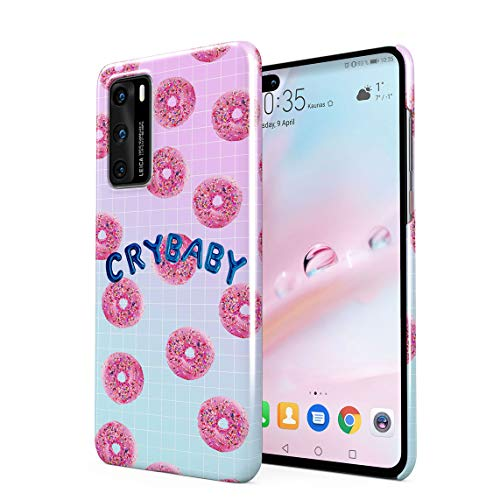 Crybaby Sweet P Glazed Donuts Pattern Hard Thin Plastic Phone Case Cover For Huawei P40