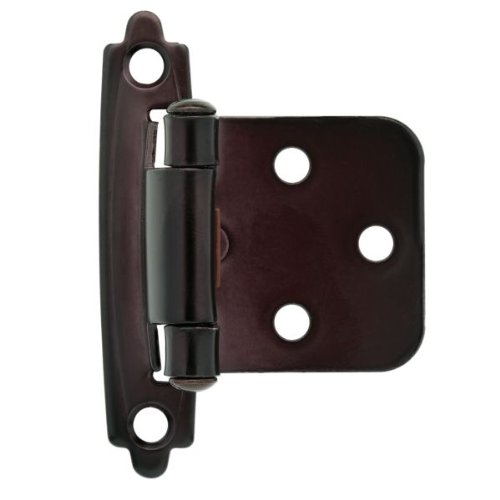 Liberty Hardware H0103BC-500-C - 1-15/16 in. (49mm) Self-Closing Overlay Hinge, Oil Rubbed Bronze