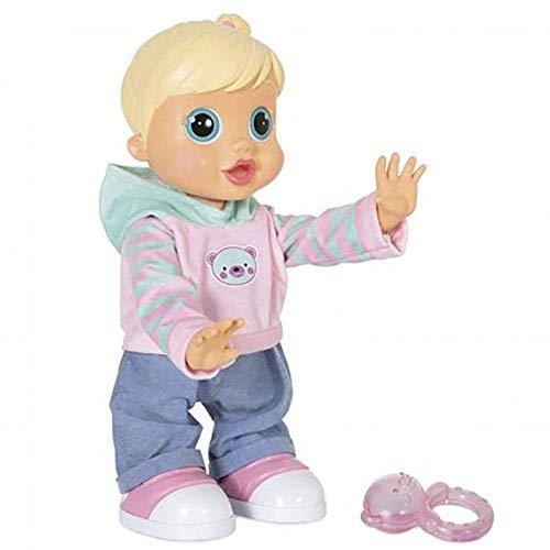 Boneca Baby Wow Malú Interativa + de 100 Frases com Movimento Alimentação 4 Pilhas AA Indicado para +3 Anos Bege/Rosa Multikids - BR580