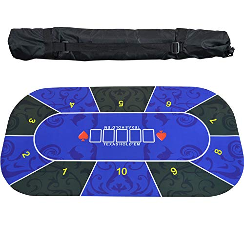 EYLIFE Deluxe Pokerrmatte, Profi Pokertischauflage Poker Tischauflage, Pokerteppich, Pokertuch,1.2x0.6
