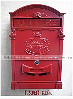 European Villa Mailbox Outdoor Antirust Vintage Mailbox