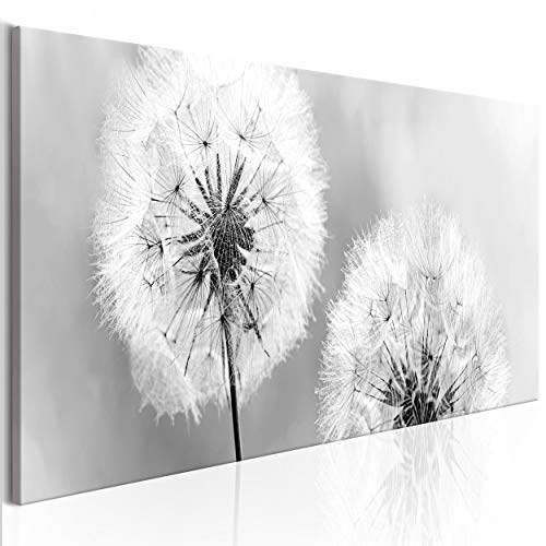 decomonkey Bilder Blumen Pusteblume 150x50 cm XXL 1 Teilig Leinwandbilder Bild auf Leinwand Vlies Wandbild Kunstdruck Wanddeko Wand Wohnzimmer Wanddekoration Deko Natur