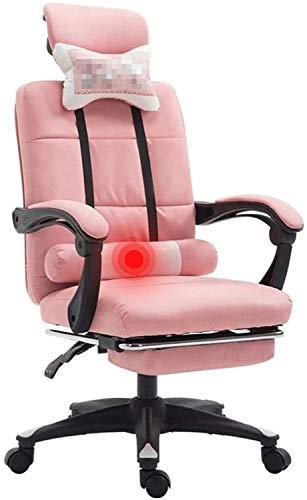 Biurostuhl Ergonomisch Möbel Computer Stuhl Home Office Chair Einfache Studenten Back Seat Spiel Fahrstuhl Drehstuhl Studentenwohnheim Study Chair Stühle (Farbe: Pink, Größe: 46cm * 46cm * 112cm)