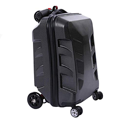 Adlereyire Trolley Suitcase Lightweight Durable Carry On Cabin Hand Luggage Set, Travel Bag with 4 Wheels (Color : Black, Size : 58 * 39 * 33cm)