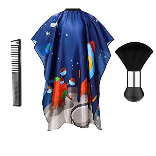 Capa de peluquería para adultos, para peluquería, peluquería, para cortar el pelo, capa de peluquería con cepillo para el cuello