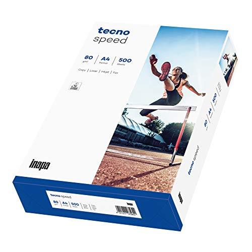 inapa Drucker-/Kopierpapier tecno Speed: 80 g/qm², A4, weiß, 500 Blatt - schnell und staufrei drucken