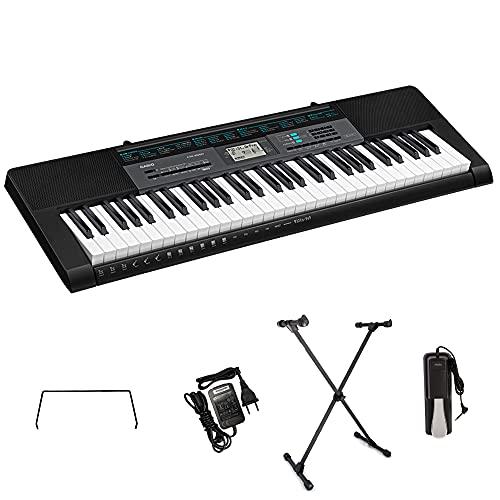 Kit Teclado Casio CTK2550 Musical 5/8 Com Suporte e Pedal