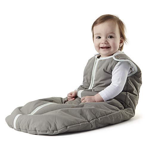 baby deedee Sleep Nest Sleeping Sack, Warm Baby Sleeping Bag fits Newborns and Infants, Gray Lagoon, Small (0-6 Month)