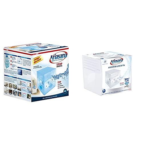 Ariasana 673932 Kit Maxi Classic Assorbiumidità, 2 X 450 G & 1939850 Kit Mini Deumidificatore, Assorbi Umidità Fino A 30 M³, Assorbiumidità Anche Per Cantina