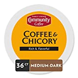 Community Coffee & Chicory Single Serve Pods, Compatible with Keurig 2.0 K Cup Brewers, 36 Count