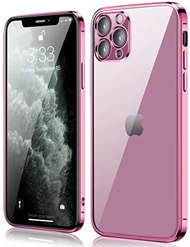 Compatible with iPhone 11 pro Case, peafowl Clear Slim Soft Full Coverage Protective TPU Silicone Cell Phone Case Pink for iPhone 11 Pro (5.8 inch)