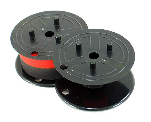 Compatible Sharp Electronic Calculator Ribbon Twin Spool Black and Red Ribbon - Fits All Twin Spool Models