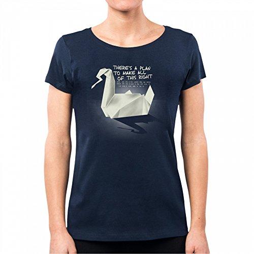 PACDESIGN Camiseta Mujer Prison Break Origami Serie TV Geek Funny TV Series Film Nemimakeit Nm0128a