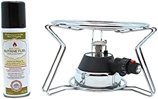 Bella Tavola BT-4601KF Fondue Chafing Burner,Cooking Platform,Butane, Silver