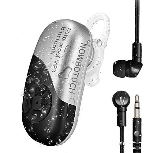 NOWBOTUCH IPX8 Wasserdicht Eingebauter 8GB Speicher MP3-Player Bluetooth 5.0 Hörer Drahtloses Auto-Headset Ohrhörer mit wasserdichtem Kopfhörer zum Schwimmen, Baden, Laufen, Surfen, Fahren, Arbeiten