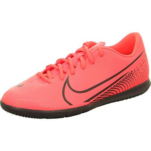 4. Nike Men's Vapor 13 Black-Laser Crimson Soccer Shoe