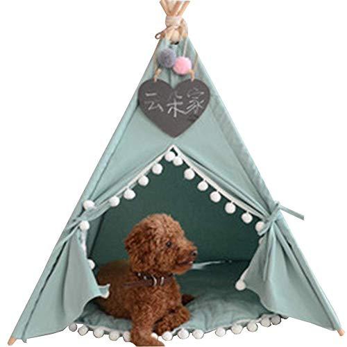 wudijimo Pet Tipi Hundezelt, Tragbares Haustierzelt und Haus, Geeignet für Hunde (Welpen) und Katzen
