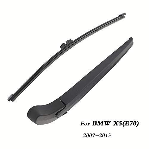 Cuchillas de limpiaparabrisas traseras Atrás Brazo de limpiaparabrisas para BMW X5 (E70) Hatchback (2007-2013) 380mm, Parabrisas de Estilo automático (Color : Single Wiper Arm)