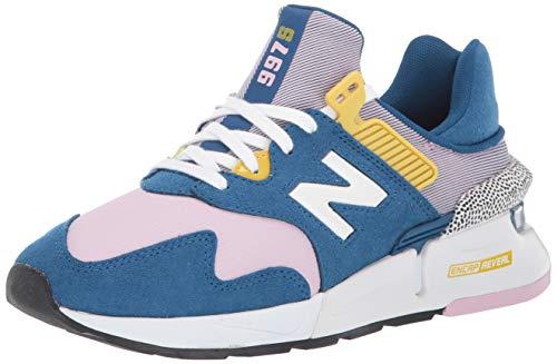 New Balance Zapatillas deportivas para mujer 997 Sport V1, azul (Andromeda Azul/Oxygen Rosa), 35 EU