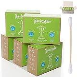 BAMBOOGALOO - Boccioli di bambù biologico, 100% senza plastica, ecologico e biodegradabile, confezione da 1000 tamponi con certificazione FSC, zero sprechi e vegani.