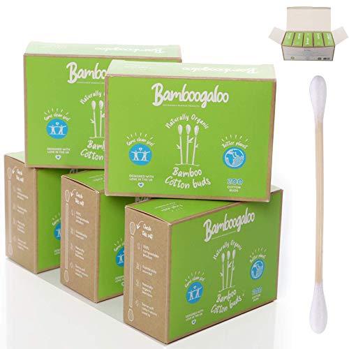 Bamboogaloo Pack Économique de Coton-Tiges en Bambou, 100% Sans Plastique, Écologique et biodégradable, Lot de 1000